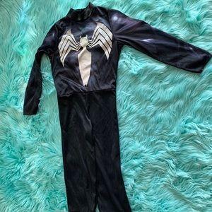 symbiotic suit black suit spider man marvel .